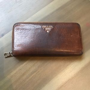 Authentic leather Prada Wallet